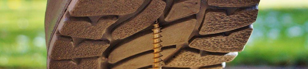 Schraube in Stiefel
