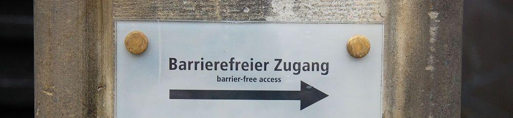 Türschild barrierefreier Zugang