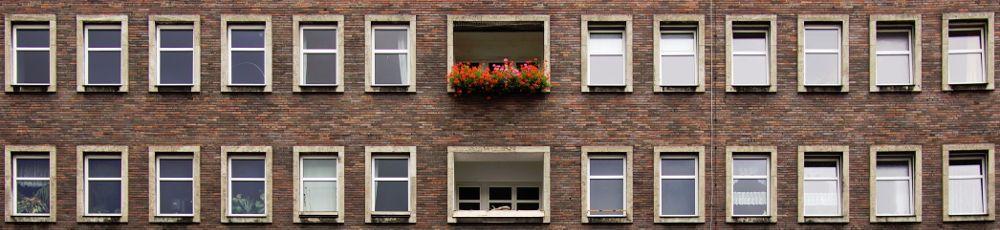 Außenfassade eines Wohnhauses